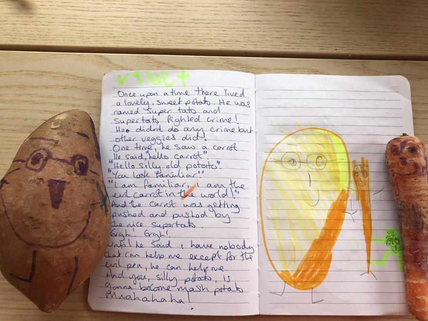 Violet's Super Sweet Potato story p1