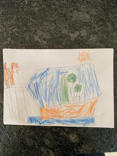 Hugo's card picture to his buddy