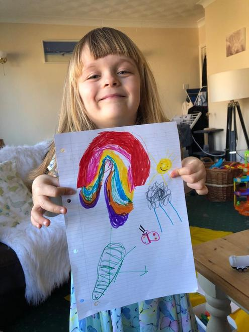 a happy rainbow