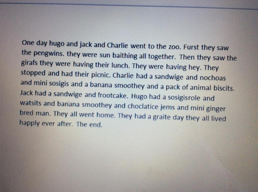 Hugo's zoo story