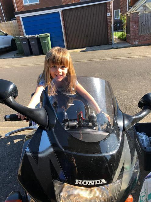 Did you know she could ride a motorbike?