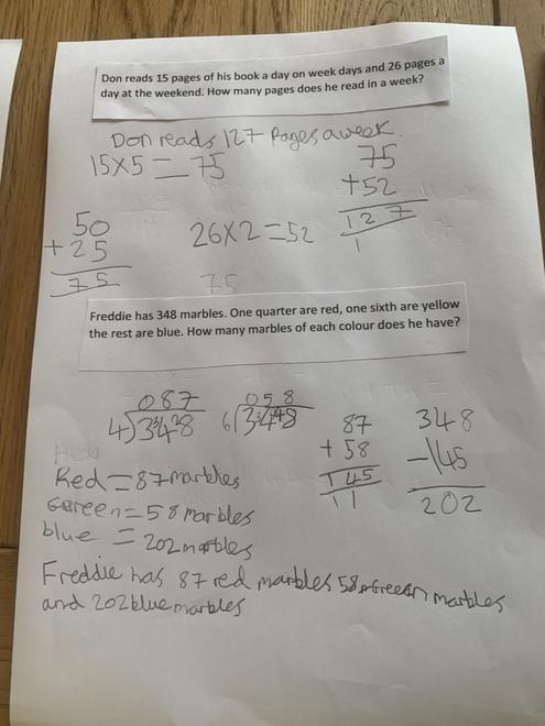 Lucy's maths