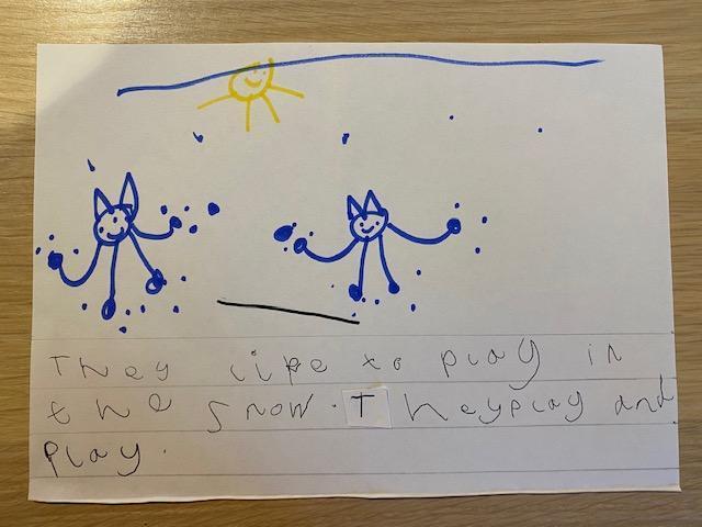 Esther's snow cat story p2