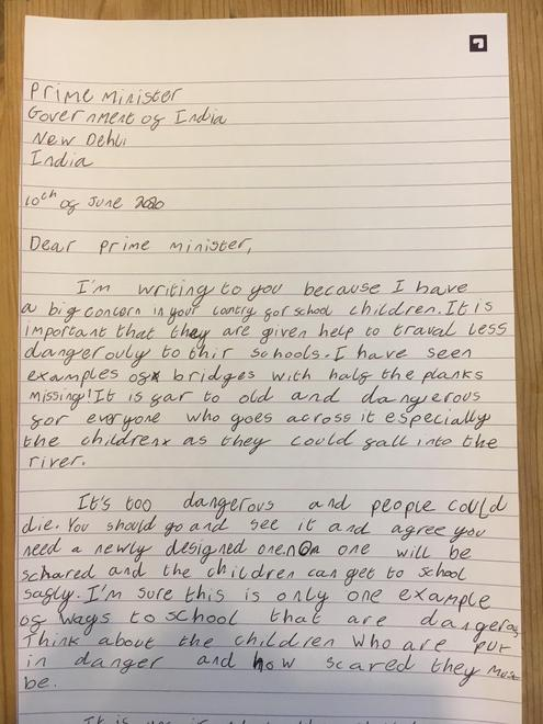 Rosie's letter