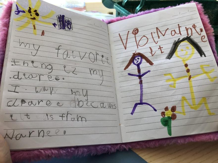 Violet's special fluffy diary from Nanny
