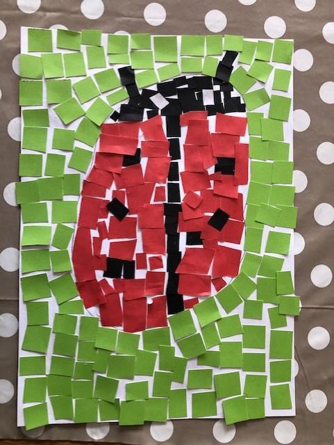Austen's ladybird mosaic