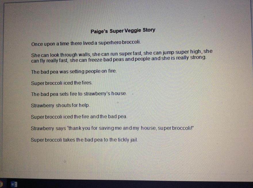 Paige - Super Broccoli story