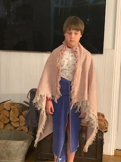 Nic dressed as a Roman