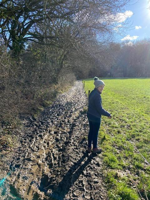 A VERY muddy walk!