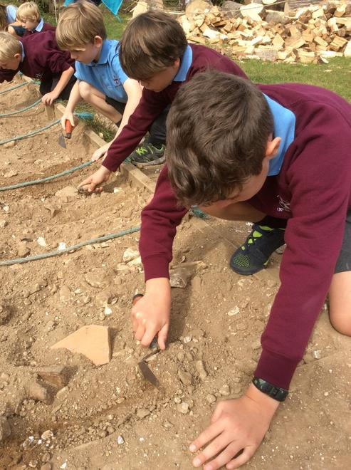 Learning about the Celts - experiencing how an archaeologist works.