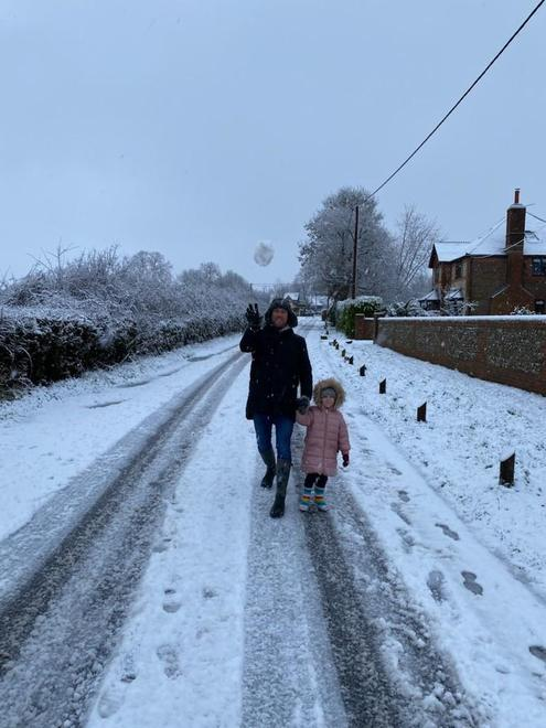 Out on a snowy walk