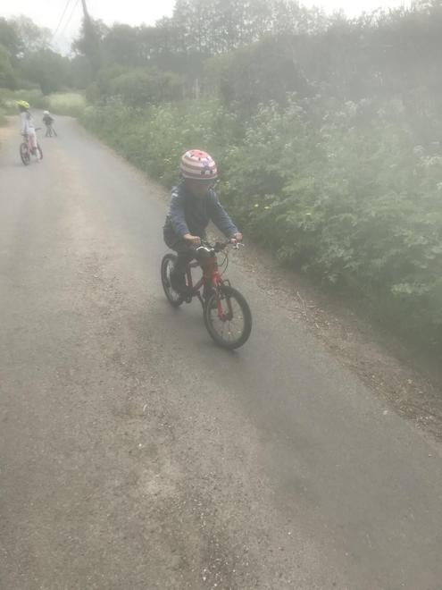 Looking good riding on two wheels