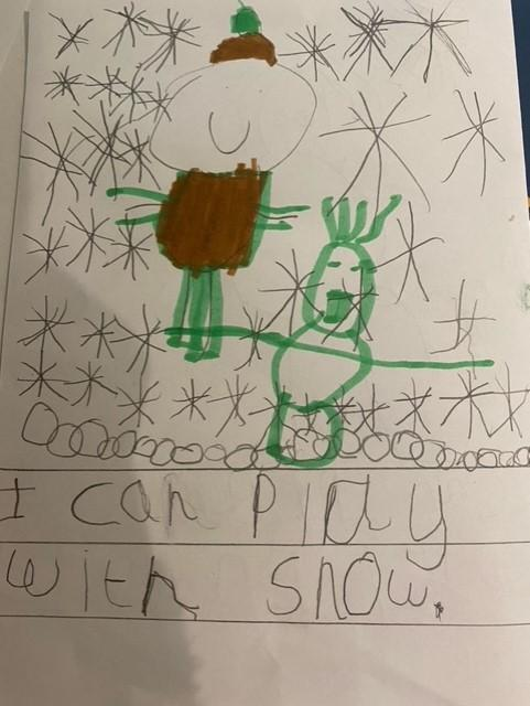 Great writing and drawing Lily