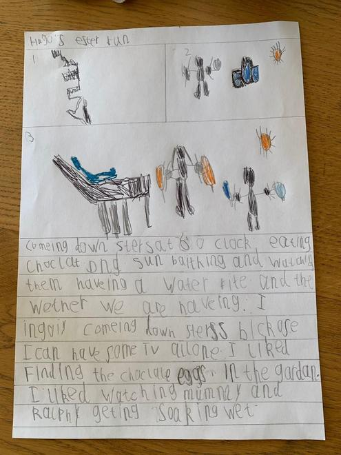 Hugo's Easter activities writing