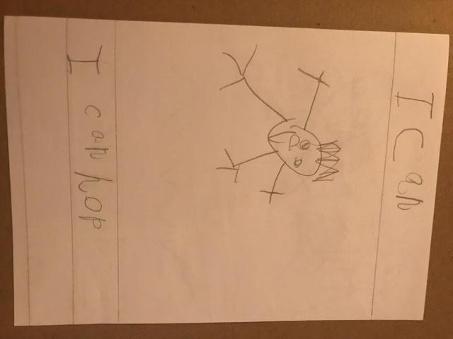 Great work on the 'I Can' book Jacob