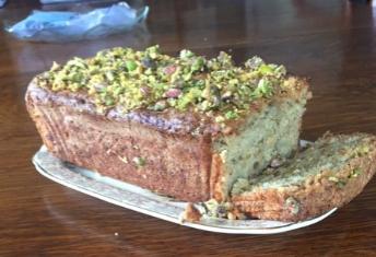 Courgette, pistachio and lemon cake