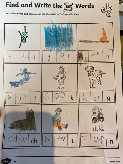 Lily's work on 'ur' words