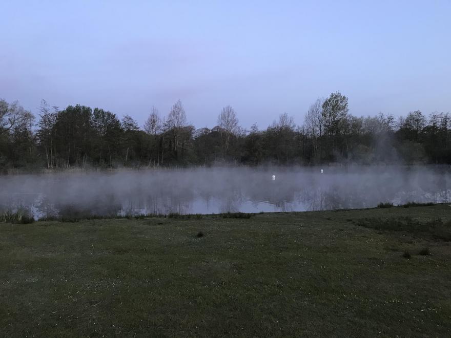 Lake looking very strange on my early morning run