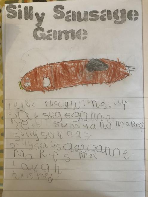 Zain - favourite activity writing