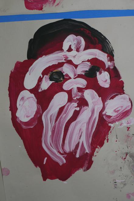 A painting of a Maori mask from Class 1