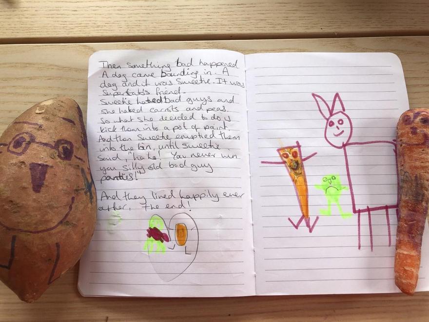 Violet's Super Sweet Potato story p2