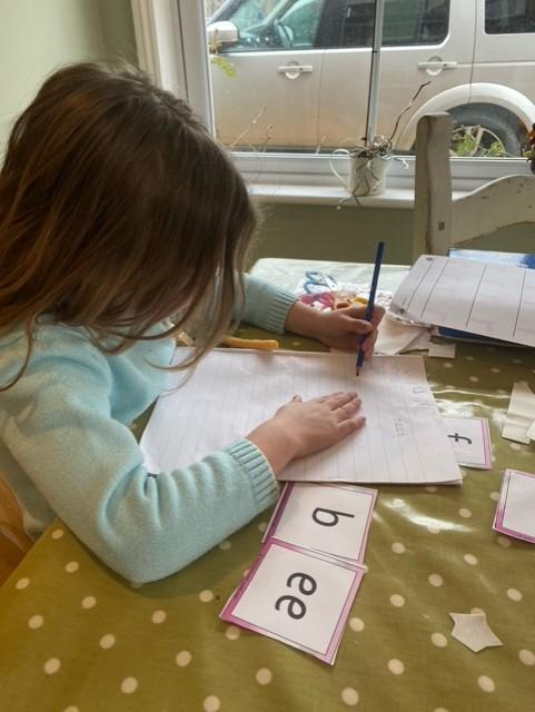 Working hard to write ee words