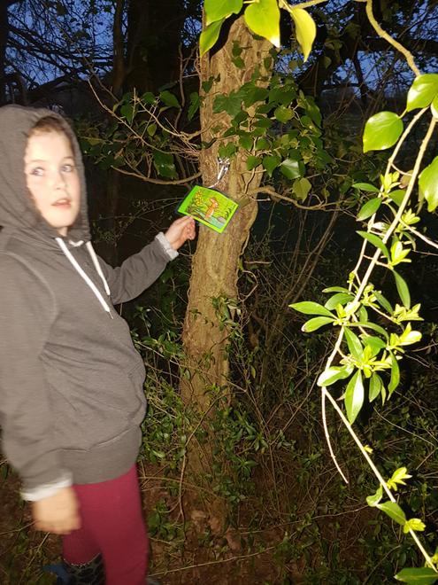 A night time walk. We found a gruffalo!