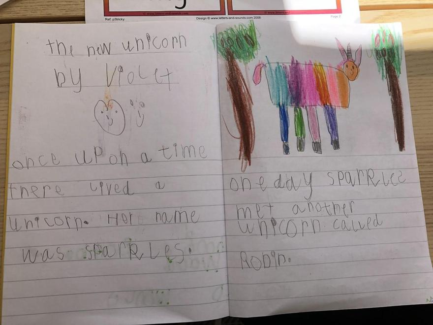 Violet's unicorn story p1