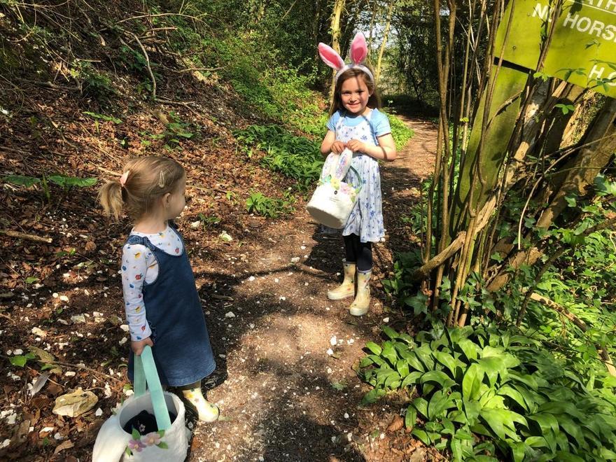 Having fun on an Easter hunt