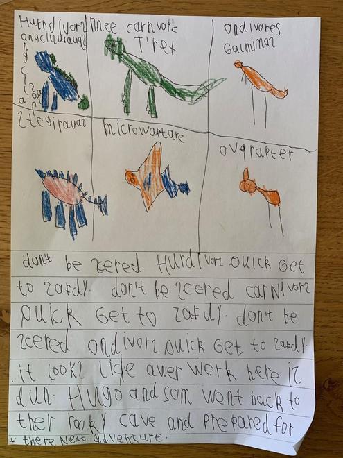 Hugo's caveman story p3