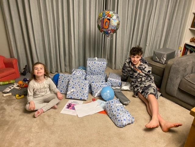 celebrating a big brother's birthday