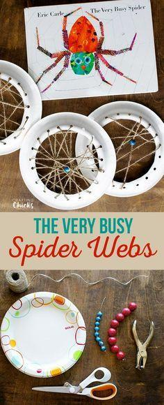 paper plate spider webs