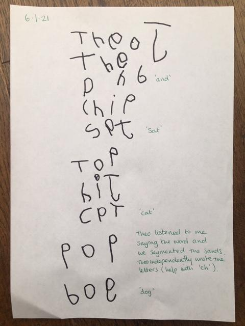 super word writing Theo