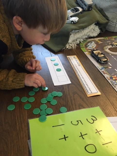 concentrating, counting and calculating
