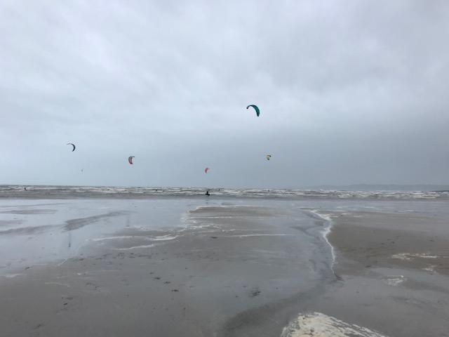 Watching the kite surfers