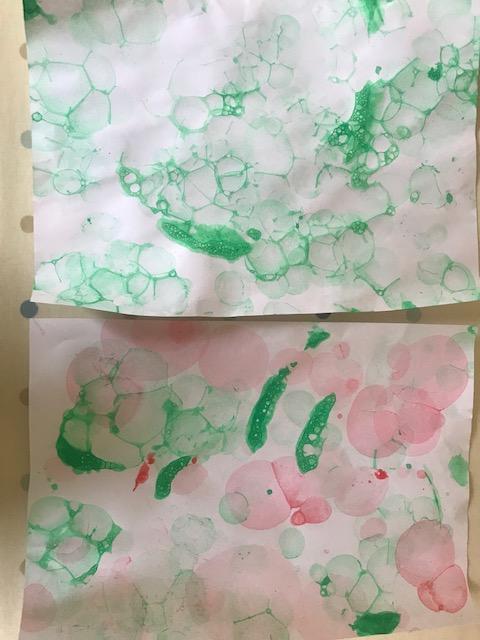 Millie's bubble art