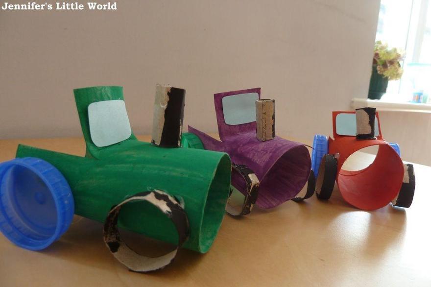 cardboard tube tractors