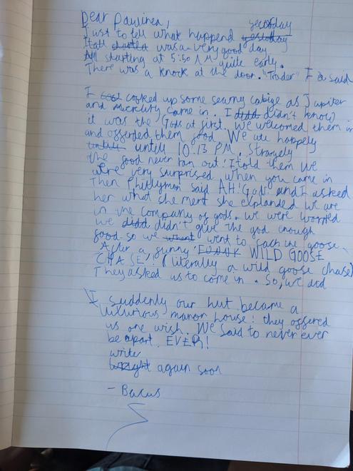 Finley's letter