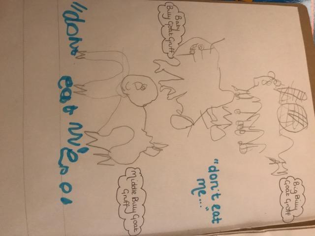 Jacob's Billy Goat Gruff drawing