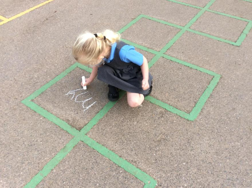 busy using chalk