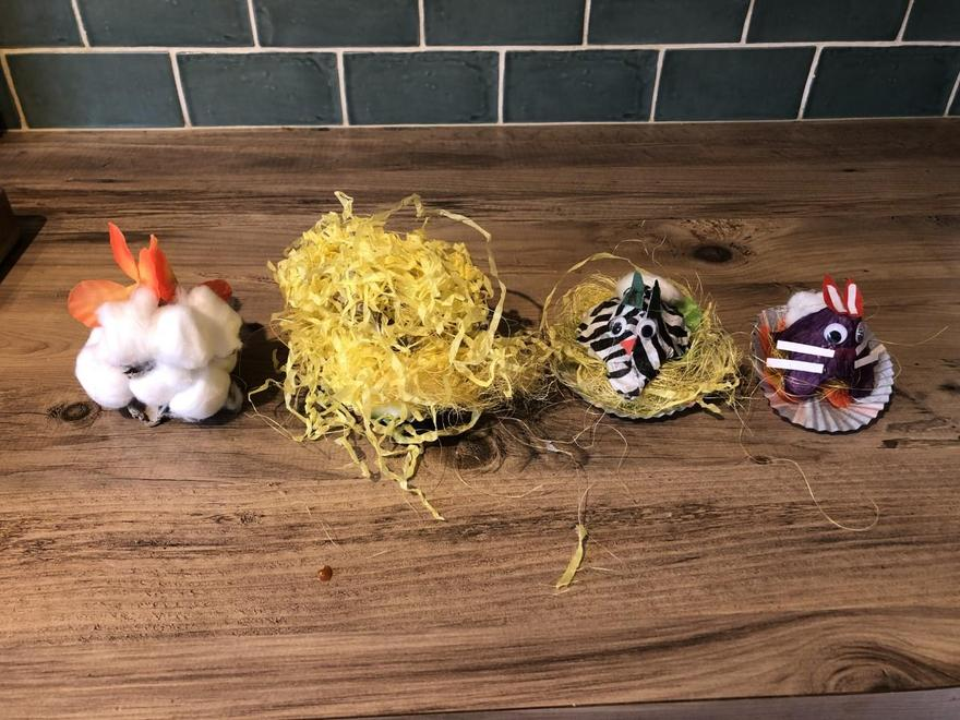 Zain's family's Easter bunnies and chicks