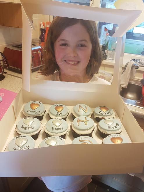 Esme's cakes for the NHS. The nurses loved them.
