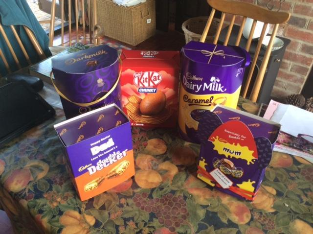 Easter eggs through the post