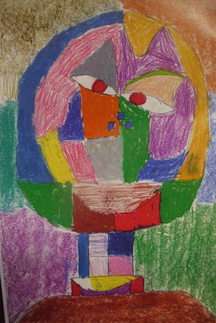 A beautiful painting in the style of Paul Klee by Class 3