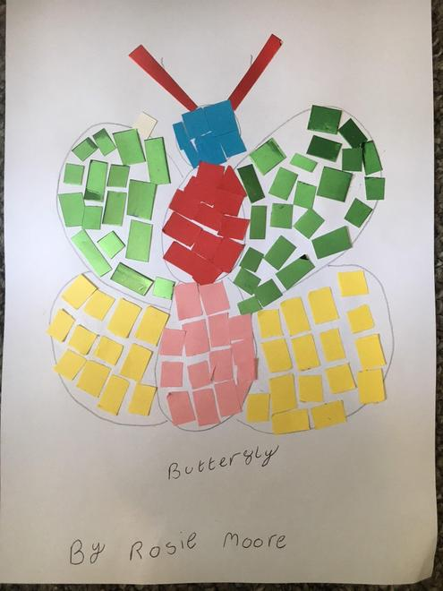 Rosie's butterfly mosaic