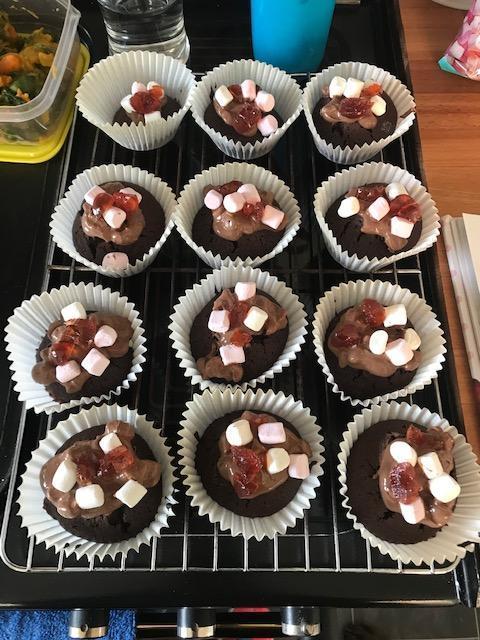 Rocky road cupcakes, yum yum!
