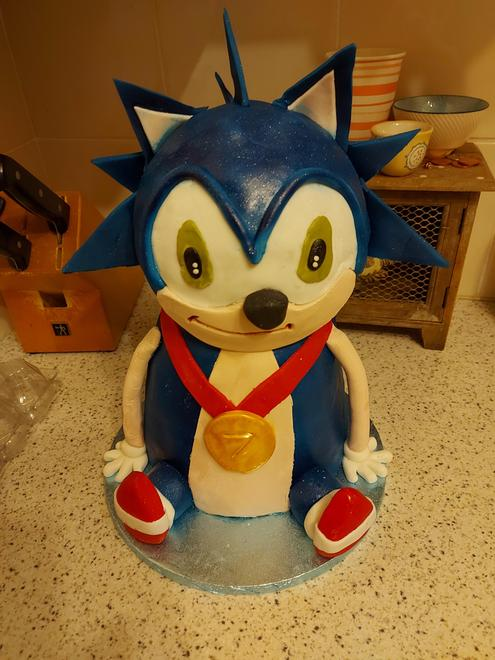 Sonic Cake - I made this for my girls half brother