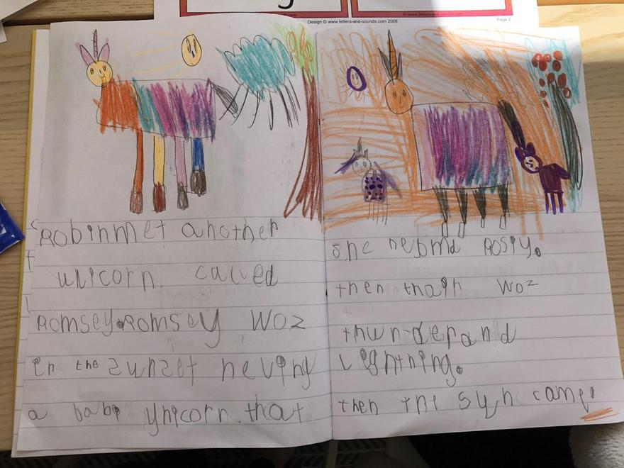 Violet's unicorn story p2
