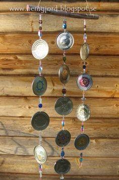 tin can lid wind chimes