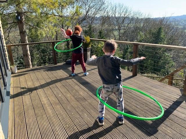 Hula hooping fun!